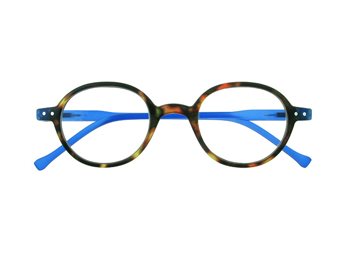 'Campbell' Reading Glasses Tortoiseshell/Blue