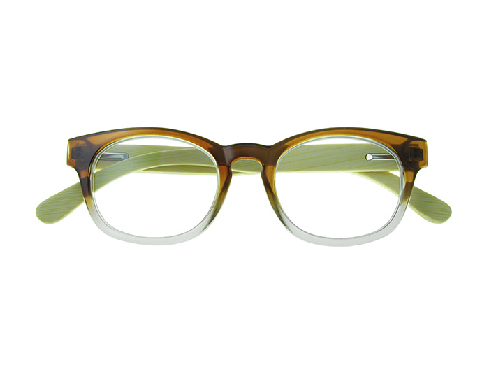 'Picadilly' Natural Bamboo Readers Brown/Clear