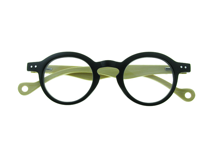 'Clarke' Natural Bamboo Readers Matte Black