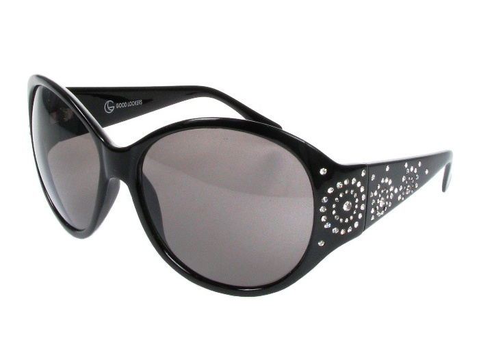 'Sunburst' Sunglasses Black