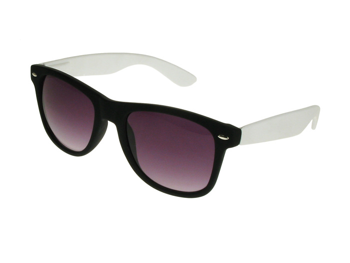 'Carnaby' Sunglasses Matte Black/White