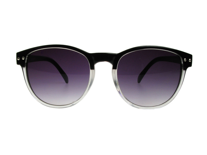 'Newhaven' Sunglasses Black/Clear