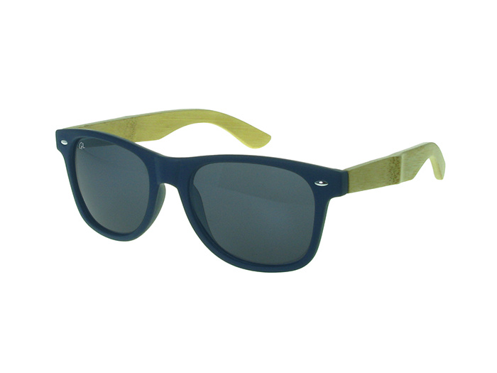 'Ash' Sunglasses Polarized Matt Blue