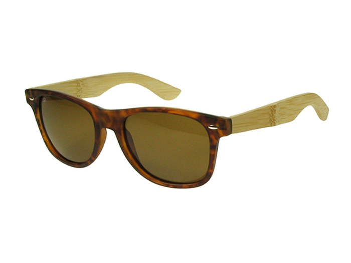 'Ash' Natural Bamboo Polarized Sunglasses Tortoiseshell