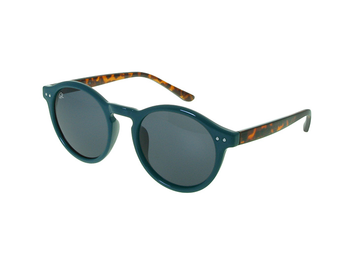'Robbie' Sunglasses Polarized Blue/Tortoiseshell