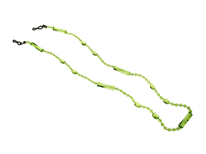 'Translucent Bead' Glasses Chain Green