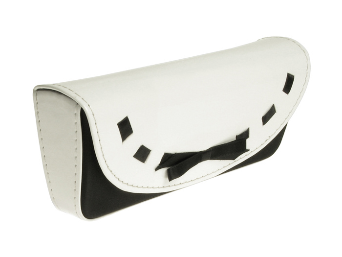 'Bow Brights' Glasses Case White