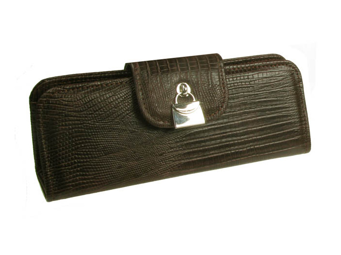 'Handbag Design' Glasses Case Brown