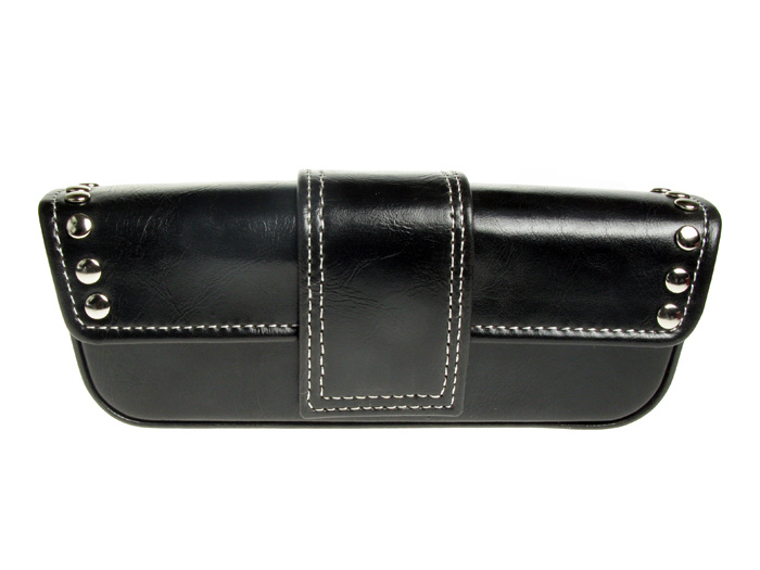 'Stud Design' Glasses Case Black