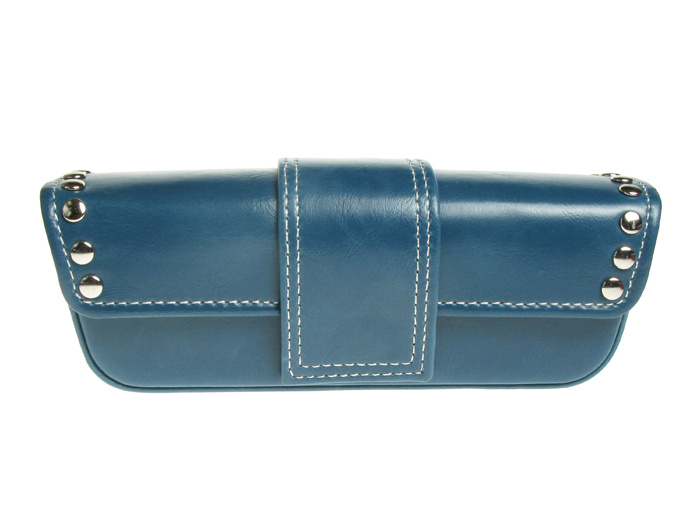 'Stud Design' Glasses Case Blue