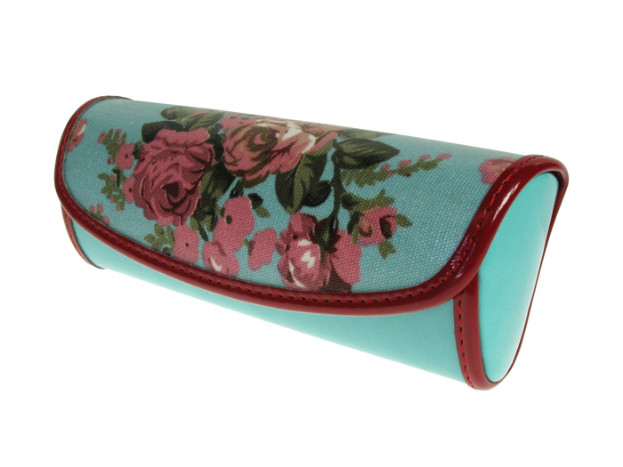 'Vintage Rose' Glasses Case Blue