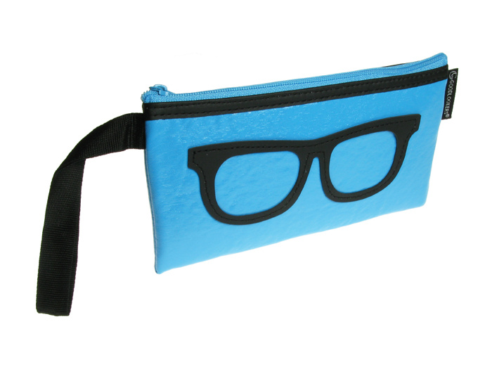 'Geeky Retro' Glasses Case Blue