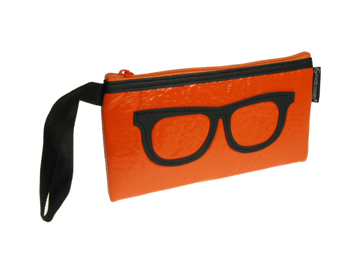 'Geeky Retro' Glasses Case Orange