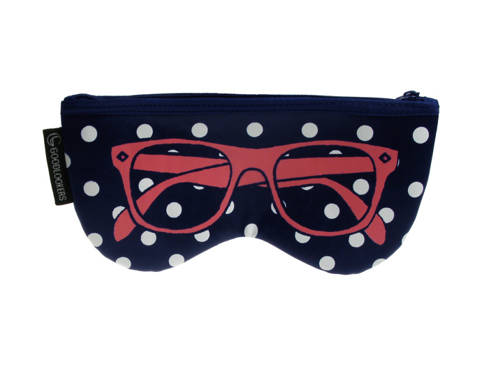 'Shaped Retro' Glasses Case Blue