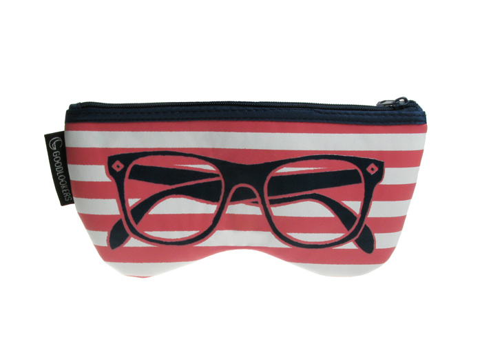 'Shaped Retro' Glasses Case Pink