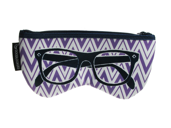 'Shaped Retro' Glasses Case Purple