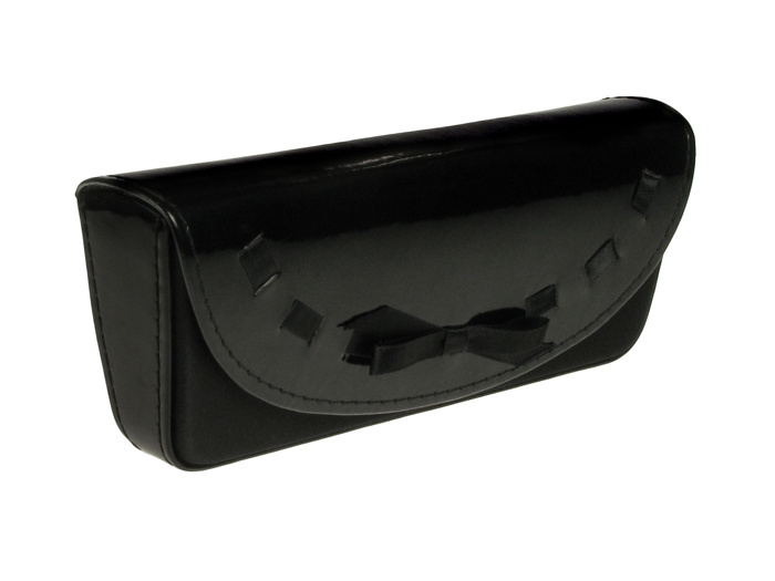 'Bow Design' Glasses Case Black