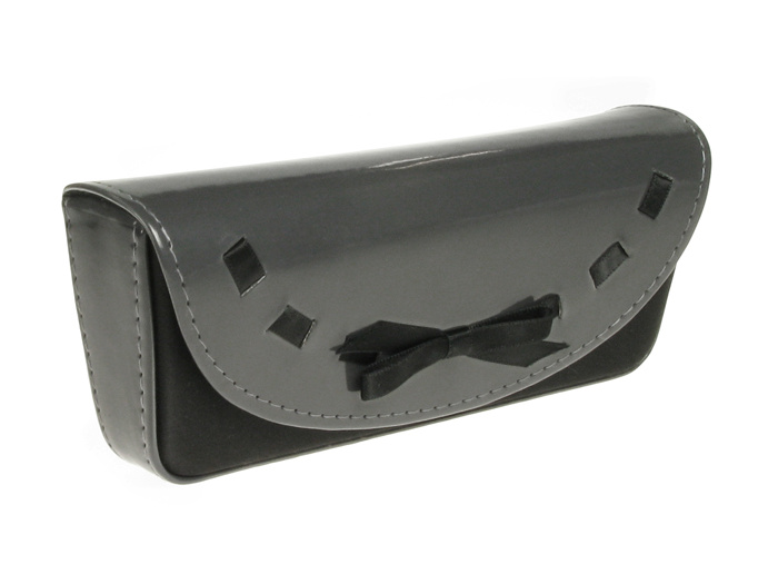 'Bow Design' Glasses Case Gray