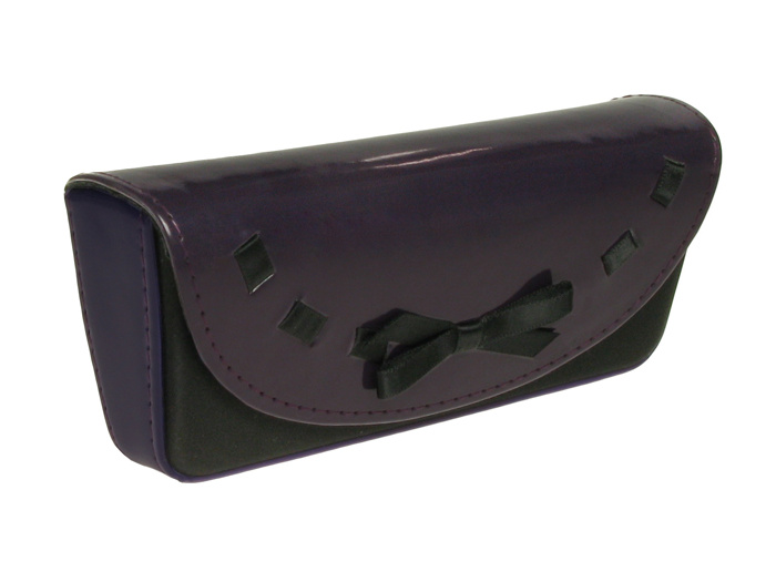 'Bow Design' Glasses Case Purple