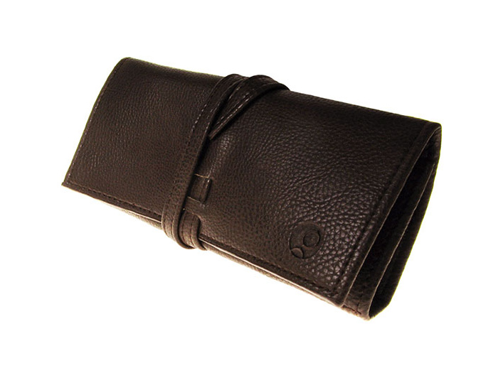 'Tassle' Glasses Case with Cloth & Screwdriver Brown