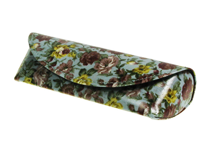 'Antique Floral' Glasses Case Blue