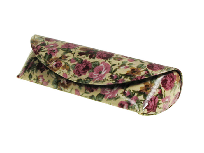 'Antique Floral' Glasses Case Cream