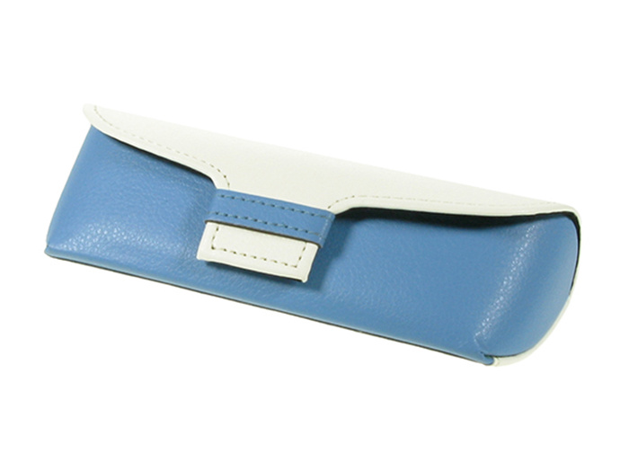 'Two-Tone' Glasses Case Blue/White