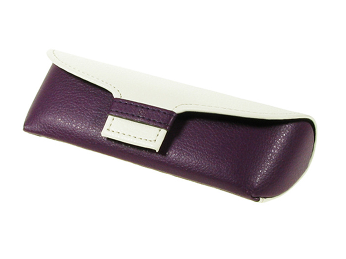 'Two-Tone' Glasses Case Purple/White