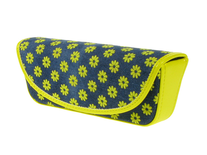 'Daisy Denim' Glasses Case Yellow