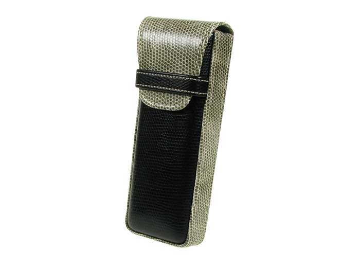 'Gents Two-Tone' Glasses Case Black/Gray