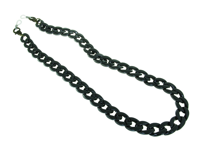 'Flat Chunky' Glasses Chain Black