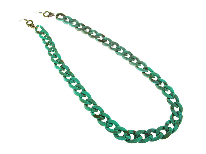 Glasses Chain 'Flat Chunky' Turquoise