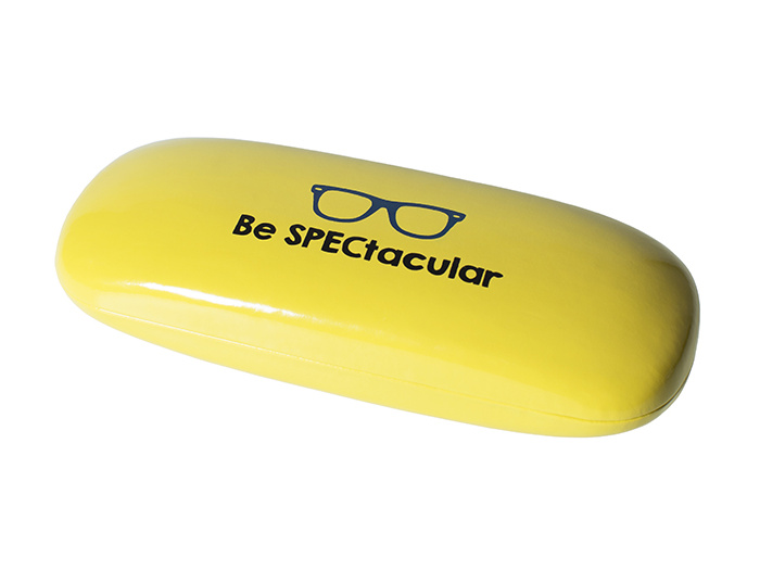 'Bright Slogan' Glasses Case Yellow